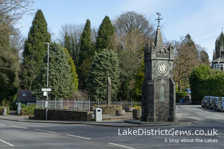 The Baddeley Clock between Windermere and Bowness-on-Windermere