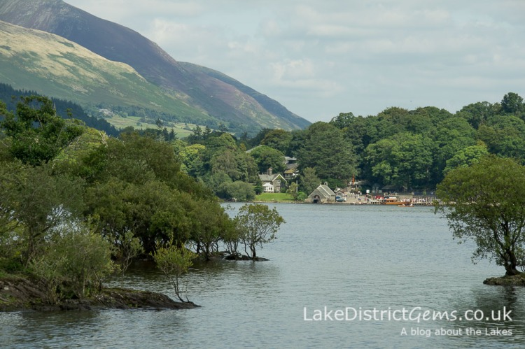 On Derwentwater looking towards the Derwentwater foreshore at Keswick