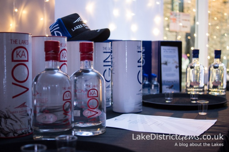 Vodka and gin products from the Lakes Distillery, Bassenthwaite Lake