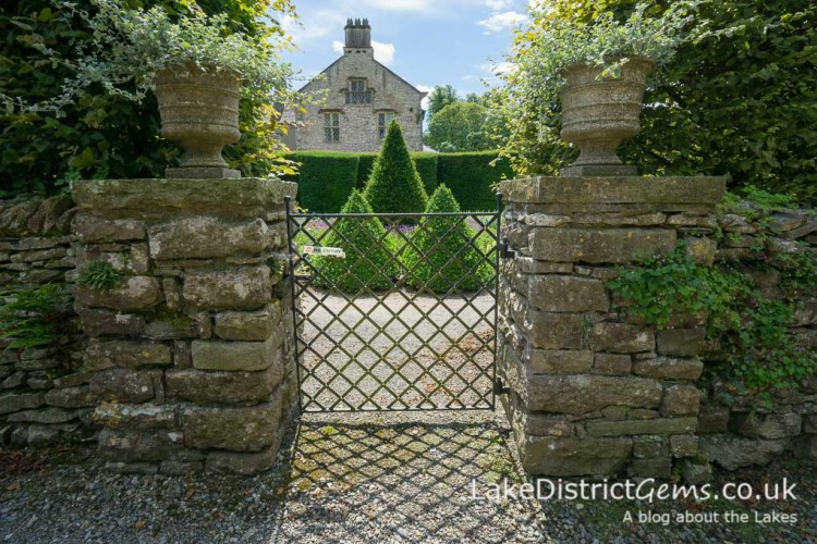 A gate at Levens Hall