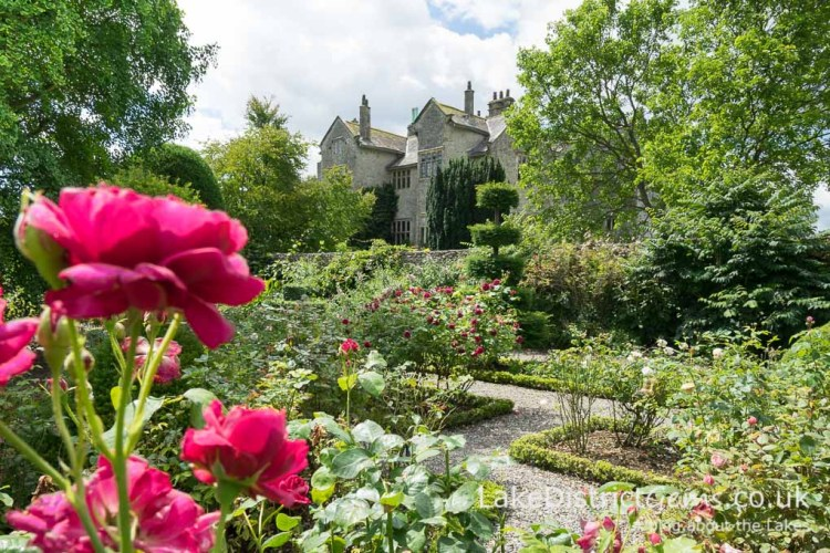 The rose garden at Levens Hall