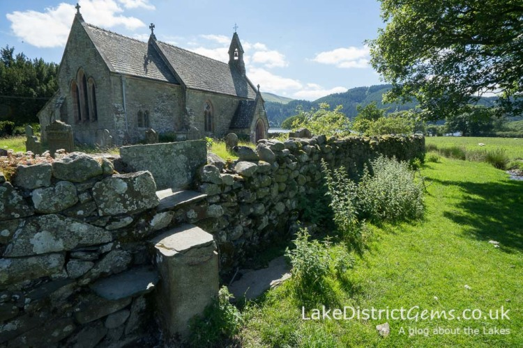 St Bega's Church on the shores of Bassenthwaite