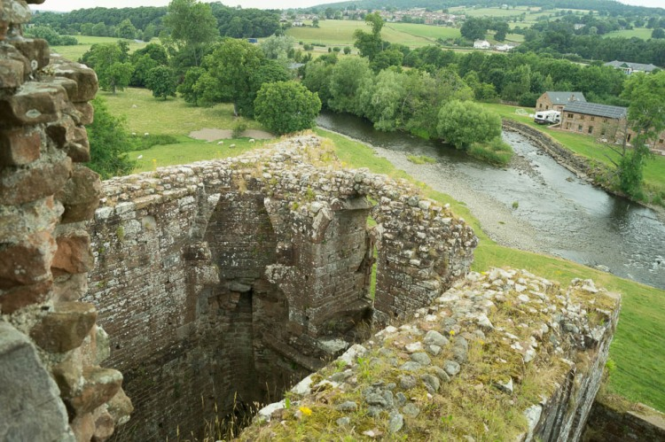 The view from the top of the Keep at Brougham Castle