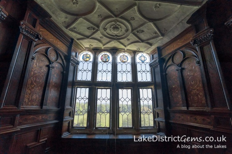 The window and panelling of the Inlaid Chamber at Sizergh Castle