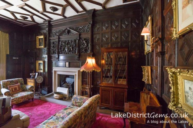 Elizabethan oak panelling inside Sizergh Castle