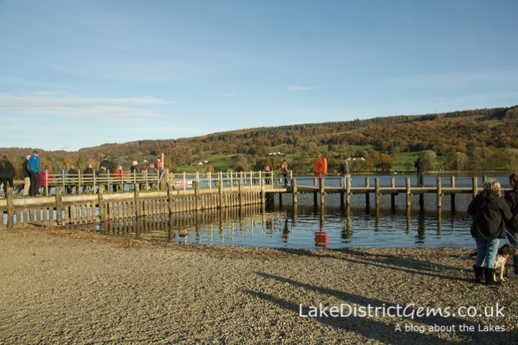 Coniston Pier on Coniston Power Boat Records Week