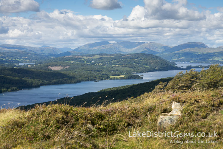 View across Windermere from Gummer's How