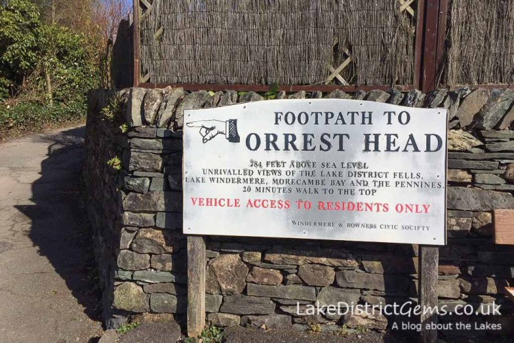 Sign up to Orrest Head