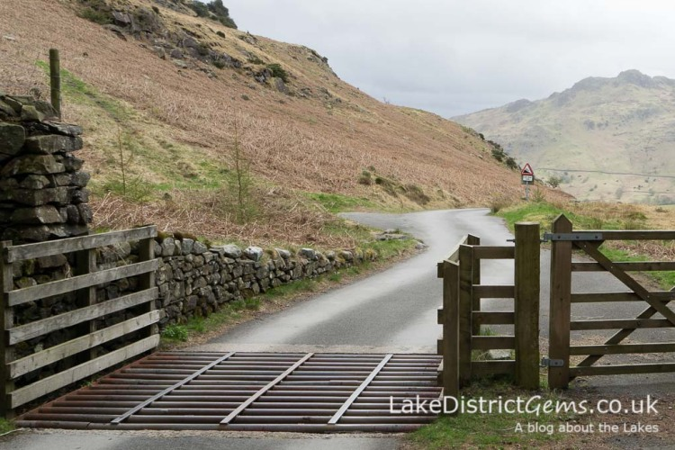 The road leading to Little Langdale from Blea Tarn