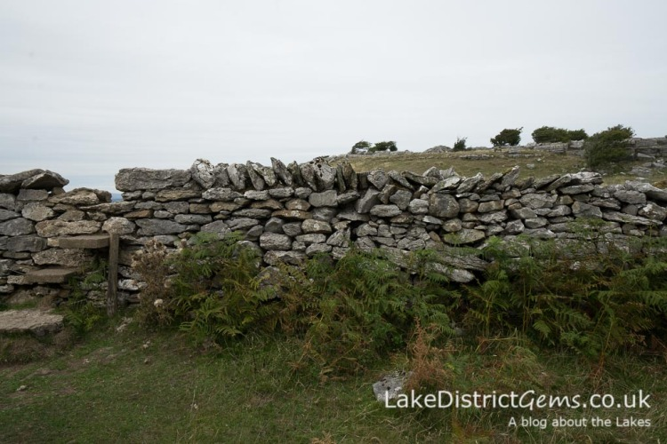 Wall stile on the walk to Hampsfell