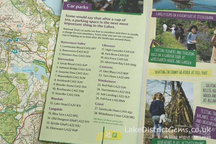 Parking with the National Trust in the Lake District