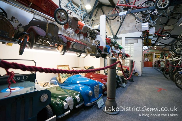 Pedal cars at the Lakeland Motor Museum