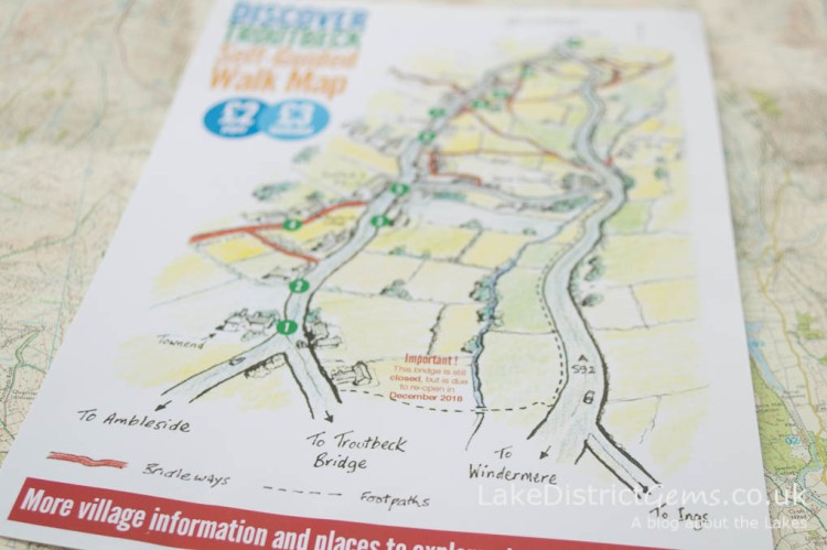 The Discover Troutbeck Self-Guided Walk Map