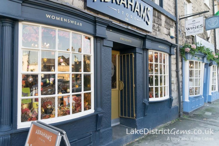 Shop fronts on Market Square, Kirkby Lonsdale