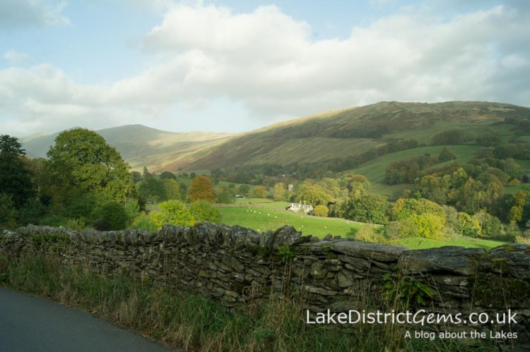 Looking across the Troutbeck valley with Jesus Church in the distance