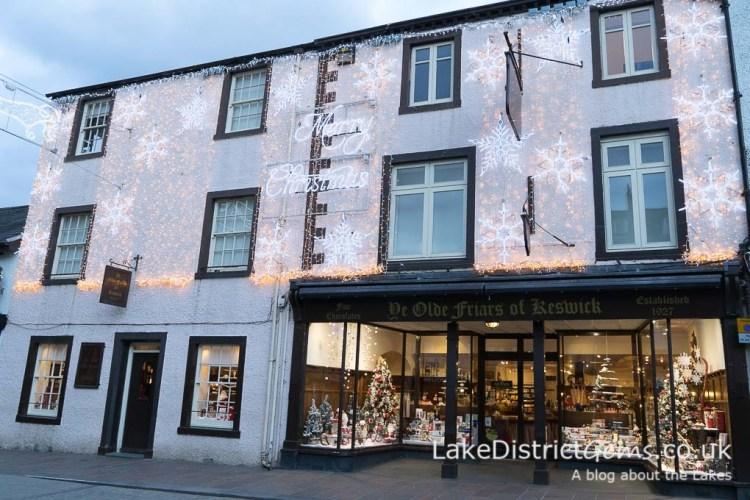 Ye Olde Friars, Keswick with Christmas lights